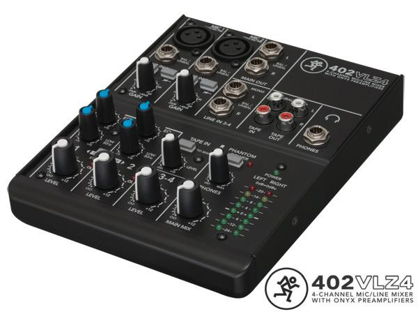 VLZ4 シリーズ 卓越 自宅録音やサブミキサー マイクプリやファンタム電源として利用可能 MACKIE 格安SALEスタート series ミキサー 402VLZ4 アナログ マッキー