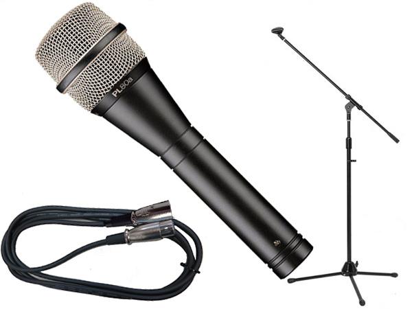 Electro-Voice ( EV エレクトロボイス ) PL80a 三脚マイクスタンドSET(XLR-XLR) ◇ ブーム/ストレートタイプ両対応のマイクスタンドと5メートルのマイクケーブル のお得なセット [ PL series ][ 送料無料 ]