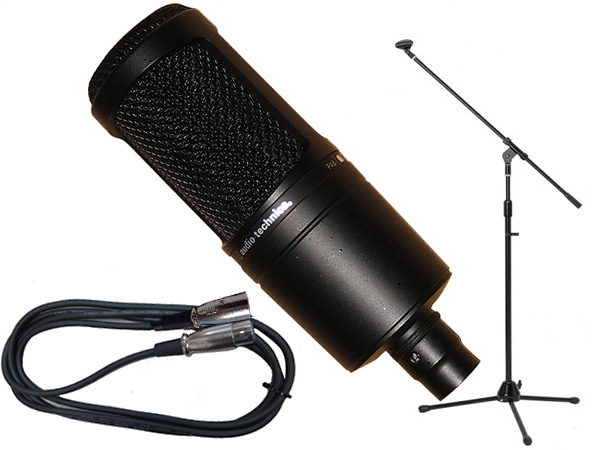 セットでお得 まとめ買い特価 AT2020 に5メートル マイクケーブルと ストレート ブームタイプ両対応 マイクスタンド をセット for ボーカル アコースティックギター オーディオテクニカ 送料無料 ナレーション ストレートタイプ両対応のマイクスタンドと5メートルのマイクケーブル 三脚マイクスタンドSET audio-technica 永遠の定番 ギターアンプ のお得なセット XLR-XLR ブーム