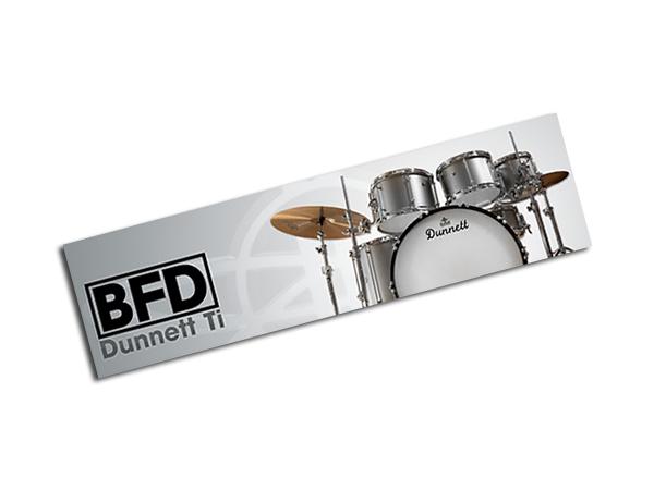 fxpansion ( エフエックスパンション ) BFD2 Expansion KIT: Dunnett Ti ◆【BFD3でもご使用頂けます!】【FPBFDDUN】 ◆【正規代理店取扱い】【BFD拡張音源】【ドラム音源】【DTM】【DAW】