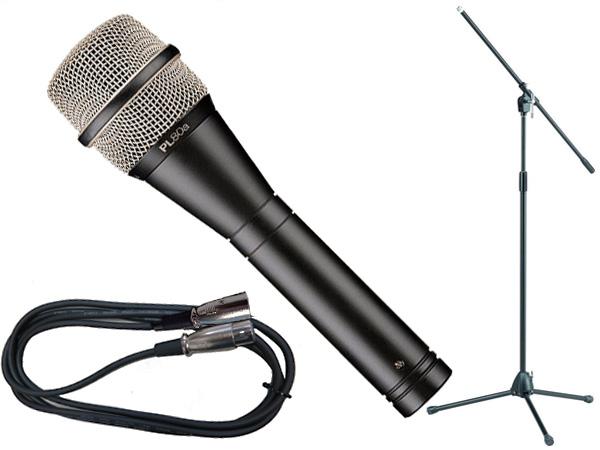 Electro-Voice ( EV エレクトロボイス ) PL80a TAMAブラックマイクスタンドSET (XLR-XLR) [ PL series ][ 送料無料 ]