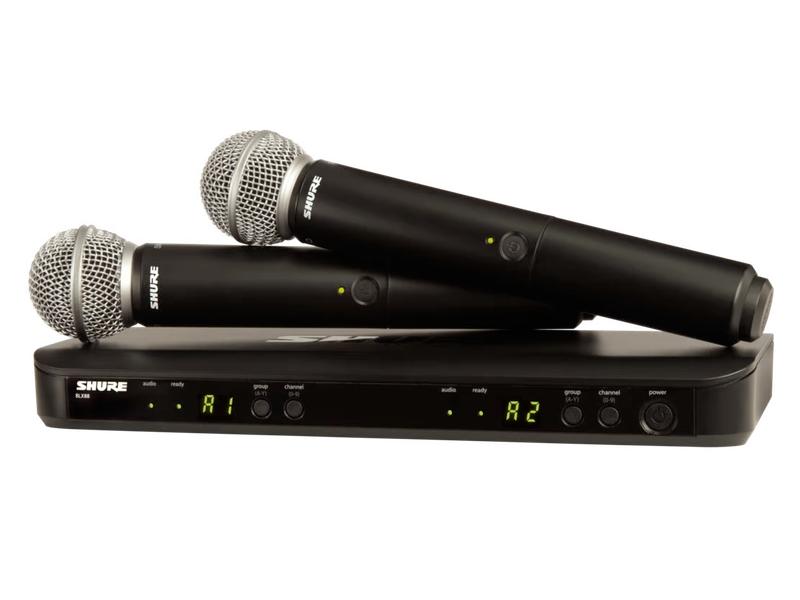 SHURE ( シュア ) BLX288/SM58 ◆ デュアルチャンネル ハンドヘルド型 ワイヤレスシステム BLX288J/SM58-JB【6月18日時点、在庫あり 】 [ ワイヤレスシステム 関連商品 ][ 送料無料 ]