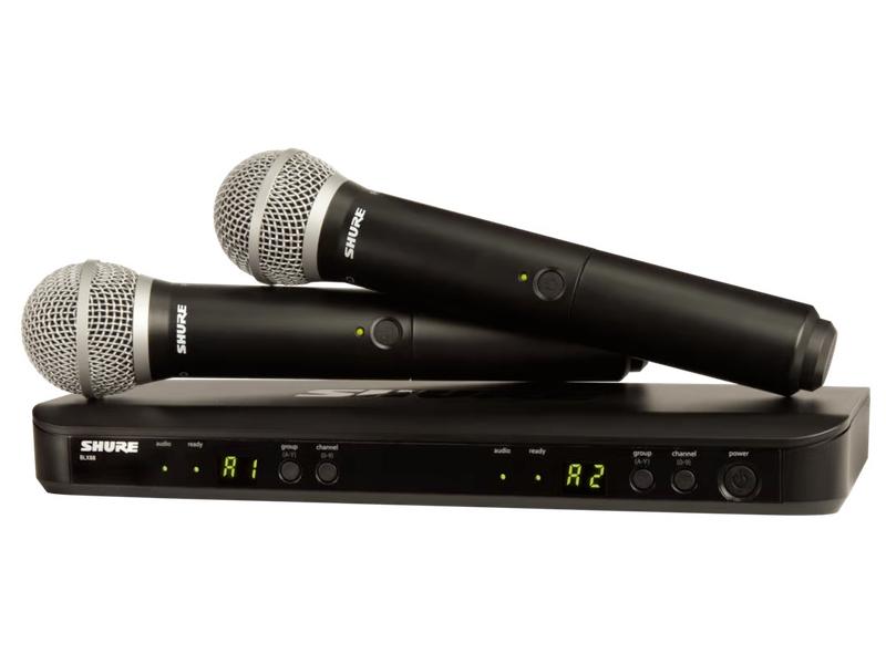 SHURE ( シュア ) BLX288/PG58 ◆ デュアルチャンネル ハンドヘルド型 ワイヤレスシステム BLX288J/PG58-JB [ ワイヤレスシステム 関連商品 ][ 送料無料 ]