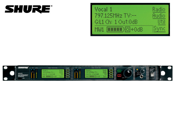 SHURE ( シュア ) MW4D+-MABJ ◆ ワイヤレスシステム(受信機)【(H)】 [ ワイヤレスシステム 関連商品 ][ 送料無料 ]