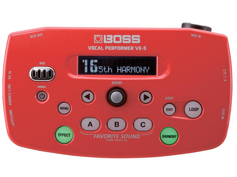 BOSS ( ボス ) VE-5(RD) ◆ ボーカルエフェクター