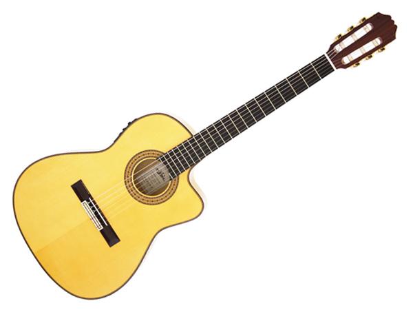 Aria ( アリア ) ACE-77FCE ☆ PU搭載フラメンコギター GIG BAG付き