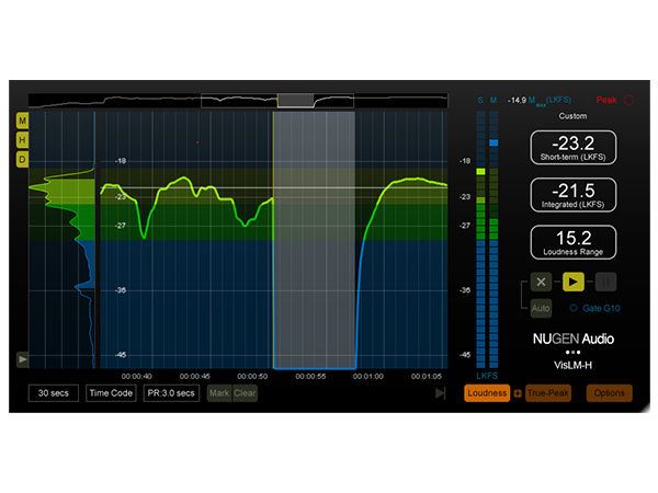 NuGen Audio ( ニュージェン オーディオ ) VisLM-H 2 Loudness Meter【NAVLMH2】 ◆【正規代理店取扱い】【ARIB TR-B32対応】【DAW】【DTM】