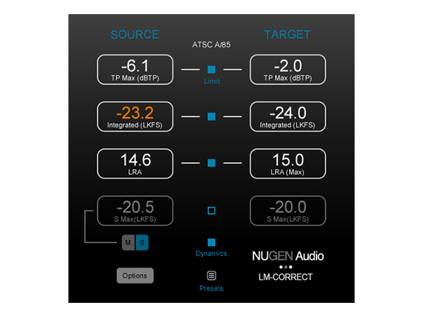 NuGen Audio ( ニュージェン オーディオ ) LM-Correct 2【NALMC2】 ◆【正規代理店取扱い】【ARIB TR-B32対応】【DAW】【DTM】