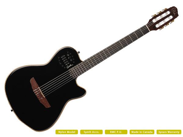 Godin ( ゴダン ) ACS SLIM SA BLACK ☆ ROLANDギターシンセ対応【ACS SLIM SA BLACK】