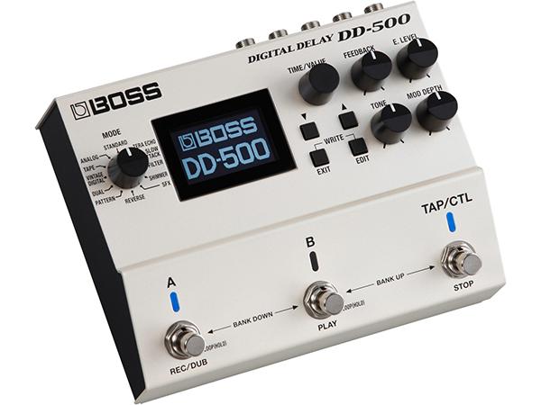 音質 バリエーション 使いやすさ すべてを究めたディレイ ペダルです 『1年保証』 BOSS 送料無料 デジタル ボス 爆売りセール開催中 DD-500 ディレイ