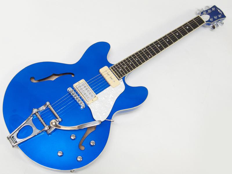 VG VG-3035(BLUE)【 日本製 セミアコ 】