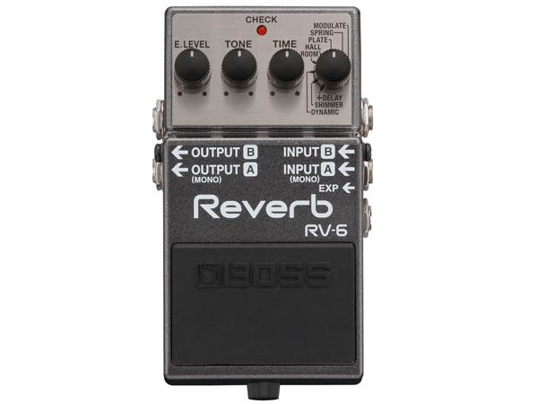 【高音質 】 REVERB BOSS コンパクトエフェクター [ WO RV-6 ) 送料無料 ( ボス リバーブ ]