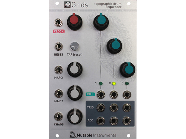 Mutable Instruments Grids ◆【モジュラーシンセ】【取り寄せ商品/納期数ヶ月 】  ◆【送料無料】【シンセサイザー】【DAW】【DTM」