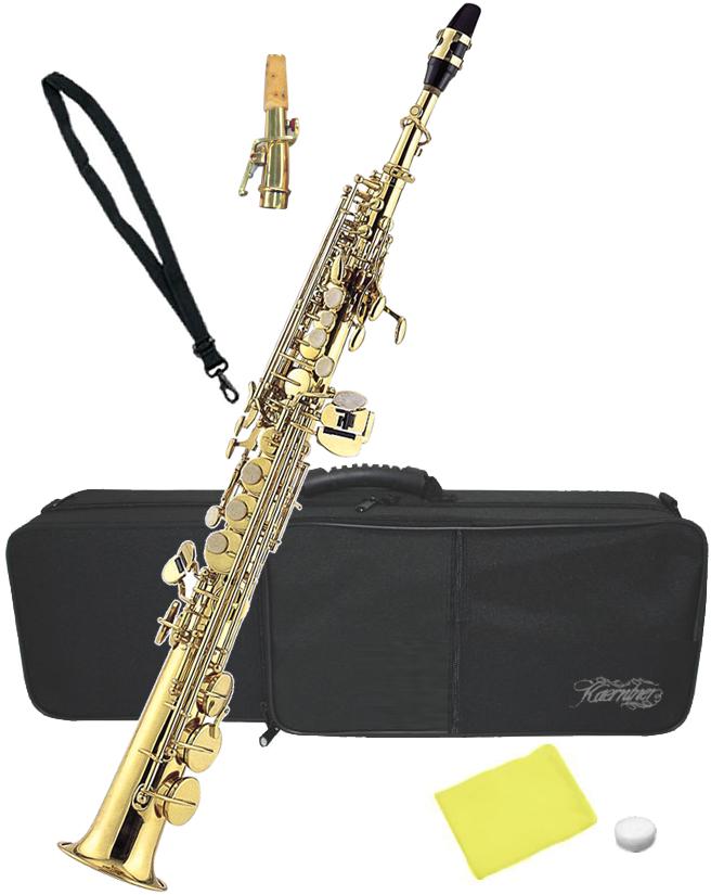 Kaerntner ( ケルントナー ) ソプラノサックス KSP-65 新品 管楽器 ストレート カーブド デタッチャブルネック B♭調 本体 初心者 KSP65 単品 送料無料