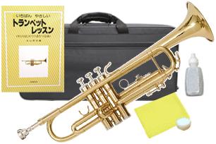 Kaerntner ( ケルントナー ) KTR-30 トランペット ゴールド 新品 初心者 管楽器 本体 金色 カラー B♭ trumpets gold 金管楽器 【 KTR30 GD セット D】 送料無料