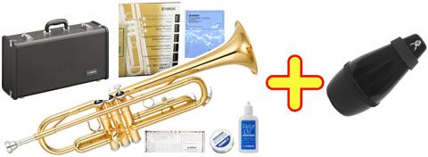 【日本製】 YAMAHA ( ヤマハ ) YTR-3335 トランペット リバースタイプ ゴールド 新品 1本支柱 管楽器 B♭ 管体 リバース管 本体 マウスピース 正規品 【 YTR3335 gold セット A】 送料無料