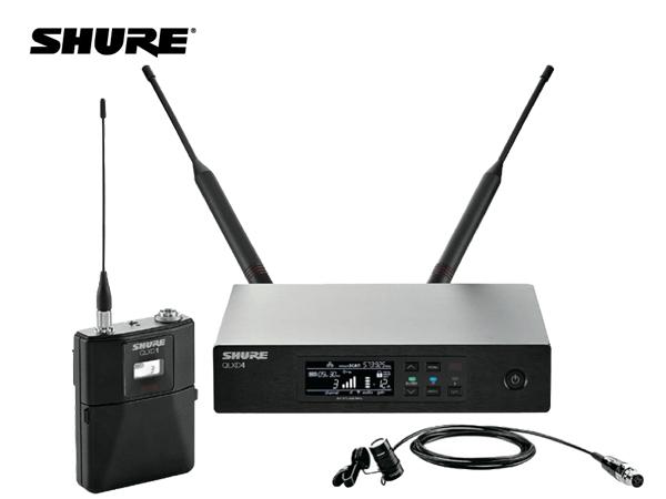 SHURE ( シュア ) QLXD14/85-JB ◆ ラベリアマイク、ボディパック型送信機 ワイヤレスマイクシステム B帯モデル [ 送料無料 ][ QLX-D Series ]