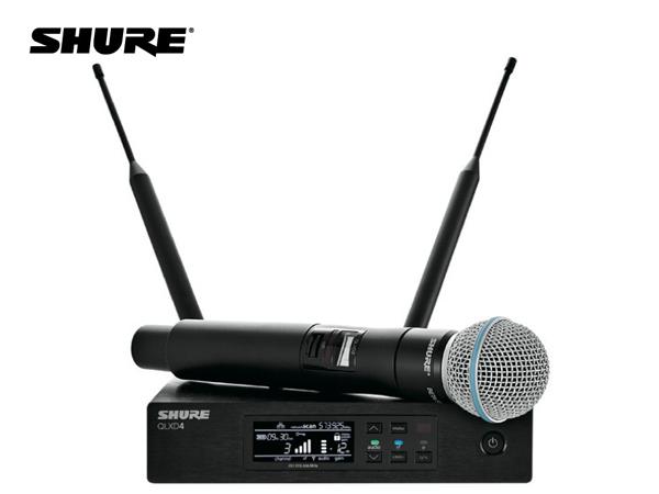 SHURE ( シュア ) QLXD24/B58-JB ◆ BETA58Aヘッド ハンドヘルド型 ワイヤレスマイクシステム B帯モデル [ 送料無料 ][ QLX-D Series ]