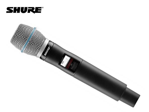 SHURE ( シュア ) QLXD2/B87C-JB ◆ ハンドヘルド型送信機 BETA87Cマイクヘッド B帯モデル [ 送料無料 ][ QLX-D Series ]