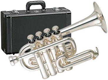 YAMAHA ( ヤマハ ) YTR-6810S ピッコロトランペット 新品 銀メッキ 4ピストン 日本製 管楽器 B♭/A管用マウスパイプ 管体 シルバーメッキ piccolo trumpet YTR6810S 送料無料