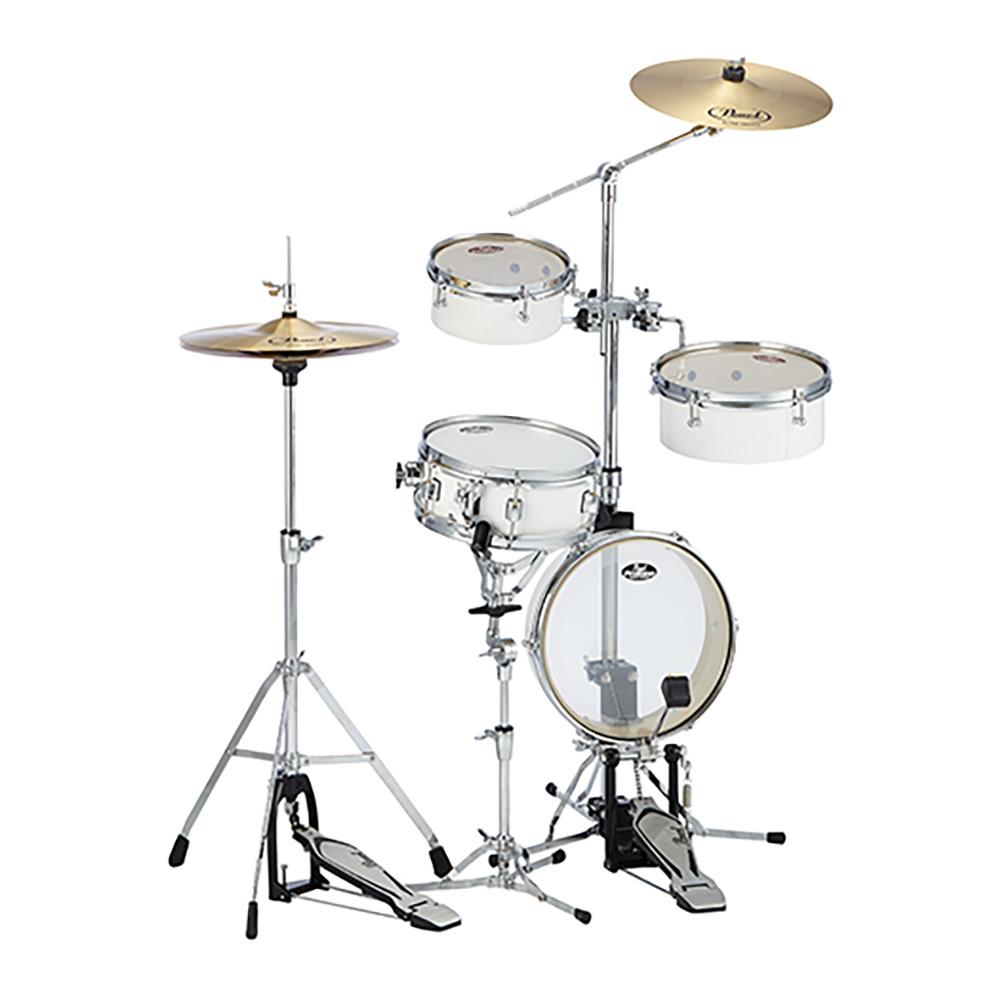 Pearl ( パール ) RT-5124N 33 【 リズムトラベラー ライト ピュアホワイト】 コンパクト ドラムセット