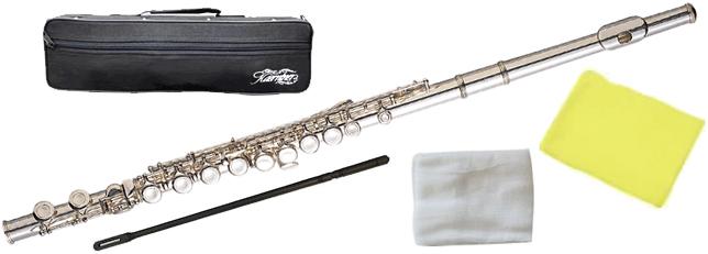 ケルントナー Silver 初心者 管体 Eメカニズム付き Kaerntner 管楽器 主管 頭部管 C管 KFL28 カバードキイ KFL-28 ( 足部管 Flute 送料無料 フルート 新品 銀メッキ )