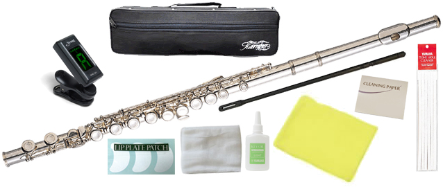 Kaerntner ( ケルントナー ) KFL28 フルート 銀メッキ 新品 Eメカニズム付き カバードキイ C管 頭部管 主管 足部管 管楽器 Flute Silver 【 KFL-28 セット B】 送料無料