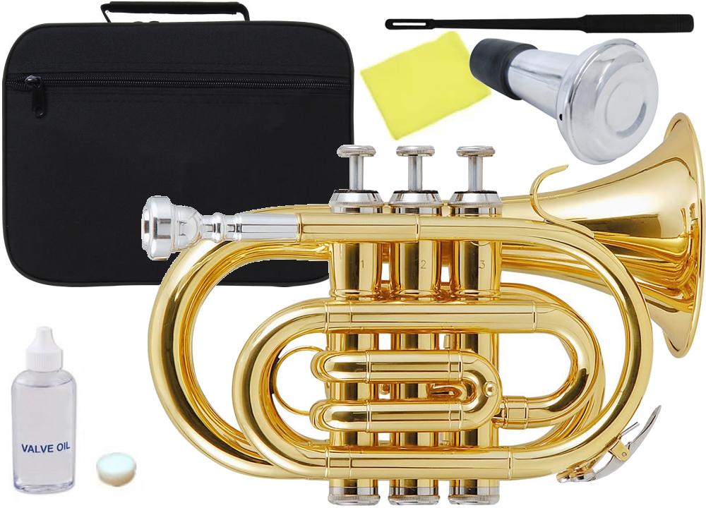 Kaerntner ( ケルントナー ) KTR33P ポケットトランペット ゴールド 新品 管楽器 ミニトランペット B♭ 管体 金色 ミニ トランペット KTR-33P GOLD ミュート セット D 送料無料
