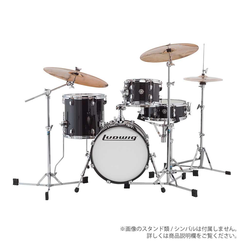 LUDWIG ( ラディック ) LC179X 016 BLACK GOLD SPARKLE【ブレイクビーツ 小口径 ドラムセット】 BREAK BEATS