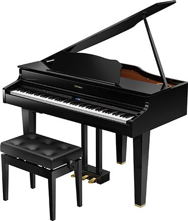 Roland ( ローランド ) GP607-PES ◆ 【黒塗鏡面艶出し塗装仕上げ】【受注後納期連絡 】 ◆【送料無料】【電子ピアノ】【88鍵盤】【ピアノタッチ】【据え置きタイプ】