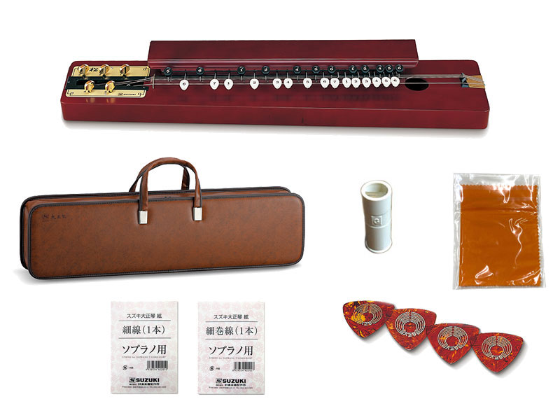 SUZUKI ( スズキ ) 特松 (とくまつ) 大正琴 和楽器【アコースティックタイプ/5絃】 和楽器 大正琴