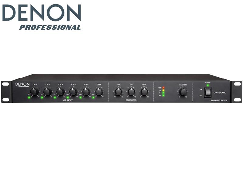 DENON ( デノン ) DN-306X ◆ 6ch XLR入力 1Uミキサー【DN306X】 [ 送料無料 ]