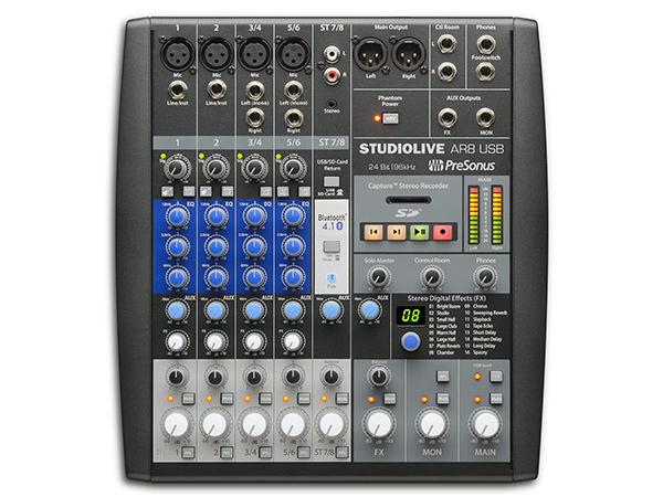 PreSonus ( プリソーナス ) StudioLive AR8 ◆【 送料無料 】【 DAW 】【 USB オーディオインターフェイス 】【 アナログ ミキサー 】
