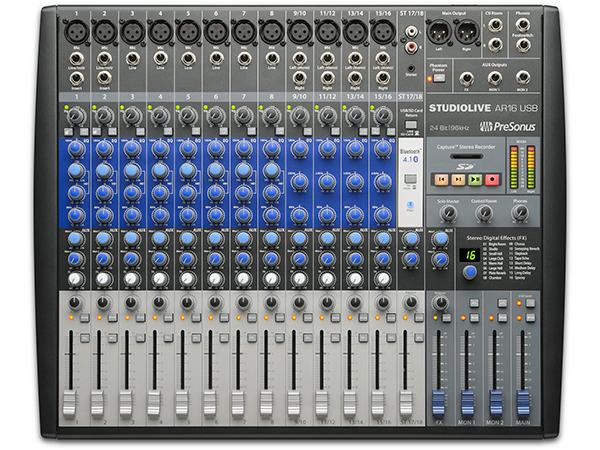 PreSonus ( プリソーナス ) StudioLive AR16 ◆【 送料無料 】【 DAW 】【 USB オーディオインターフェイス 】【 アナログ ミキサー 】