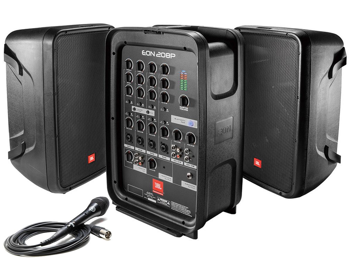 JBL ( ジェイビーエル ) EON208P 【在庫有ります】◆ 8インチスピーカー150W×2台と8chミキサーの ポータブルPAセット【EON-208P】 [ 送料無料 ]