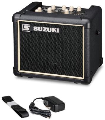 SUZUKI ( スズキ ) 送料無料 ハーモニカアンプ 音量 拡張 スピーカー SPA-03 マイク 入力 エフェクター リバーブ 楽器用 鍵盤ハーモニカ 大正琴 複音ハーモニカ アンプ