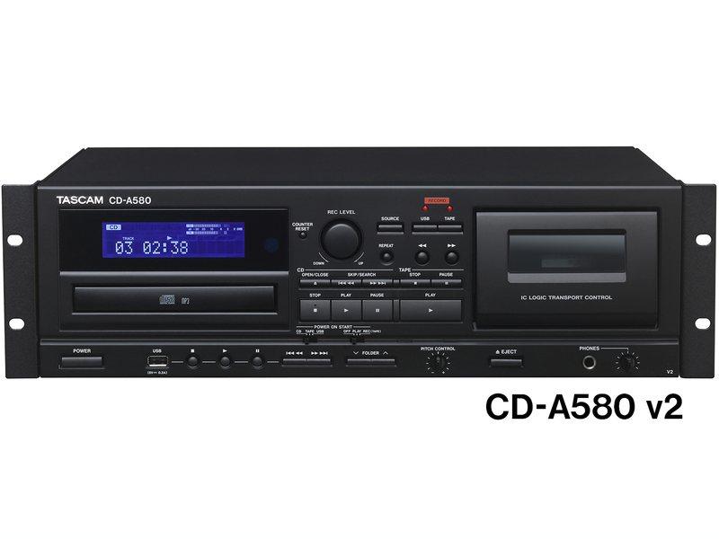 TASCAM ( タスカム ) CD-A580 ◆ 業務用カセットレコーダー/CDプレーヤー/USBメモリーレコーダー【7月30日時点、在庫あり 】 [ 送料無料 ][CDA580]