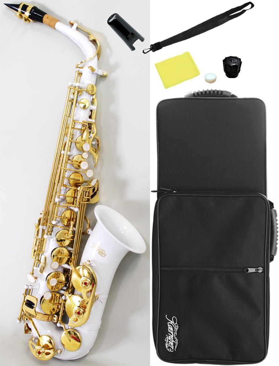 塗装剥げあり アウトレット アルトサックス ホワイト サックス E♭ 本体 初心者 管楽器 alto saxophone white アルトサクソフォン 白色 沖縄 離島不可