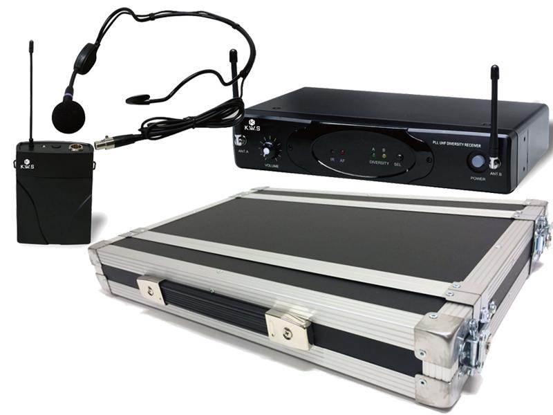 K.W.S ( by キクタニミュージック ) KWS-899P/HM-38 + H1Uラックケースセット (PULSE) ◆ ヘッドセットマイクワイヤレスマイクシステム の安全な持ち出しと簡単設置に!【KWS899P/HM38 + H1U D220mm】 [ ワイヤレスシステム ][ 送料無料 ]