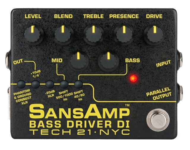 Tech21 ( テック21 ) SansAmp BASS DRIVER DI Ver.II 【サンズアンプ ベースドライバー 】 ベース プリアンプ DI