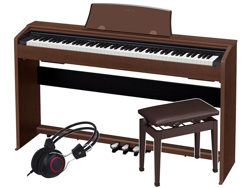 CASIO ( カシオ ) PX-770 BN 高低自在椅子セット【PX-770BN SET1】 ◆【送料無料】【電子ピアノ】【88鍵盤】【スタイリッシュ スリム】
