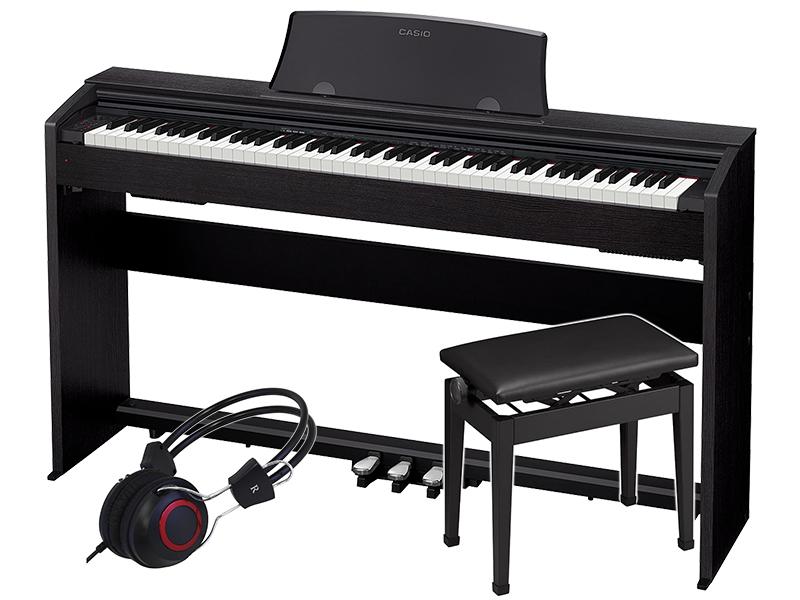 CASIO ( カシオ ) PX-770 BK 高低自在椅子セット【PX-770BK SET1】 ◆【送料無料】【電子ピアノ】【88鍵盤】【スタイリッシュ スリム】