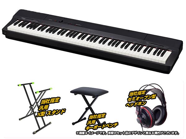 CASIO ( カシオ ) PX-160 BK 簡易練習セット ◆【送料無料】【電子ピアノ】【88鍵盤】