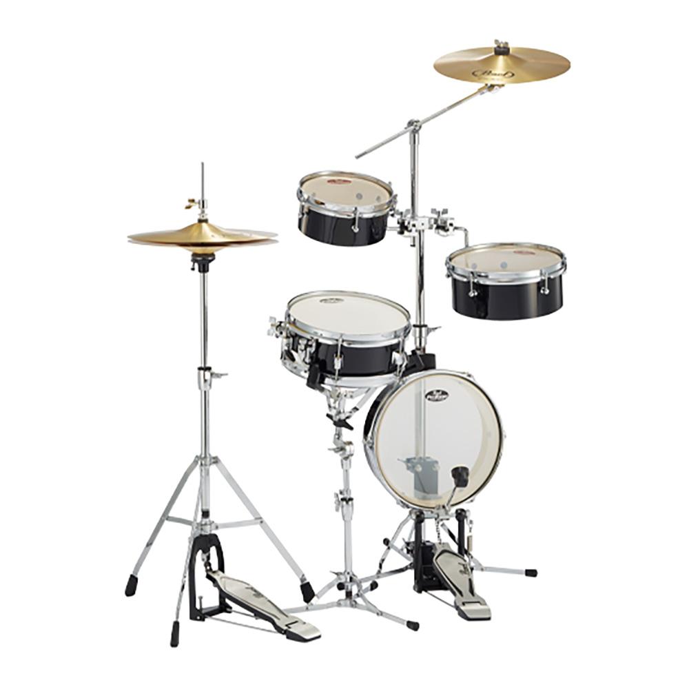 Pearl ( パール ) RT-5124N 31 【 リズムトラベラー ライト ブラック】【純正スローン D-730S プレゼント 】 コンパクト ドラムセット