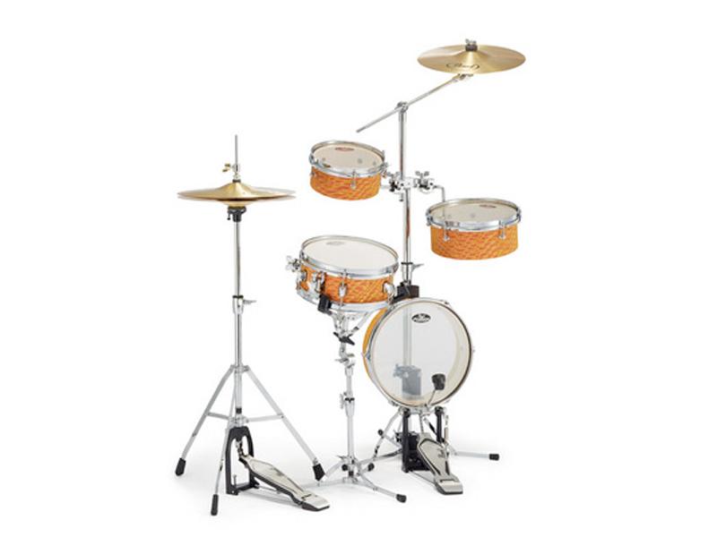 Pearl ( パール ) RT-5124N 439 【 リズムトラベラー ライト Orange Swirl 】【純正スローン D-730S プレゼント 】 コンパクト ドラムセット