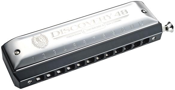 HOHNER ( ホーナー ) Discovery 48 クロマチックハーモニカ ディスカバリー48 C調 12穴 スライド式 ハーモニカ 7542/48 3オクターブ 初心者 樹脂製 送料無料
