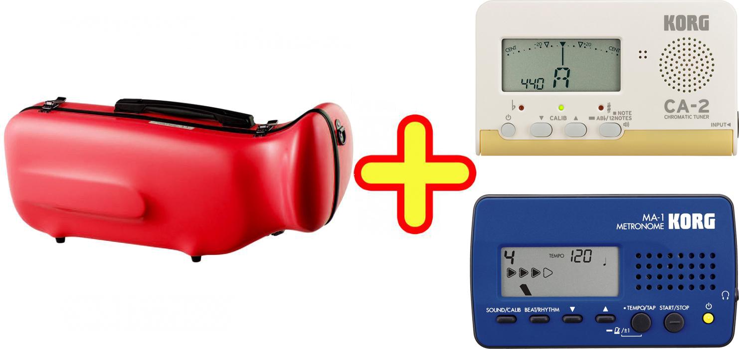 CCシャイニーケース トランペットケース レッド ハードケース トランペット用 リュックタイプ 可 シングル ケース 赤色 RED 【 CC2-TP-RD セット B】 送料無料