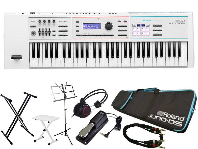Roland ( ローランド ) JUNO-DS 61W スタートセット【取り寄せ商品/受注後納期確認 [レインカバー] [シンセサイザーお手入れセット]プレゼント[数量限定] 】 ◆【送料無料】