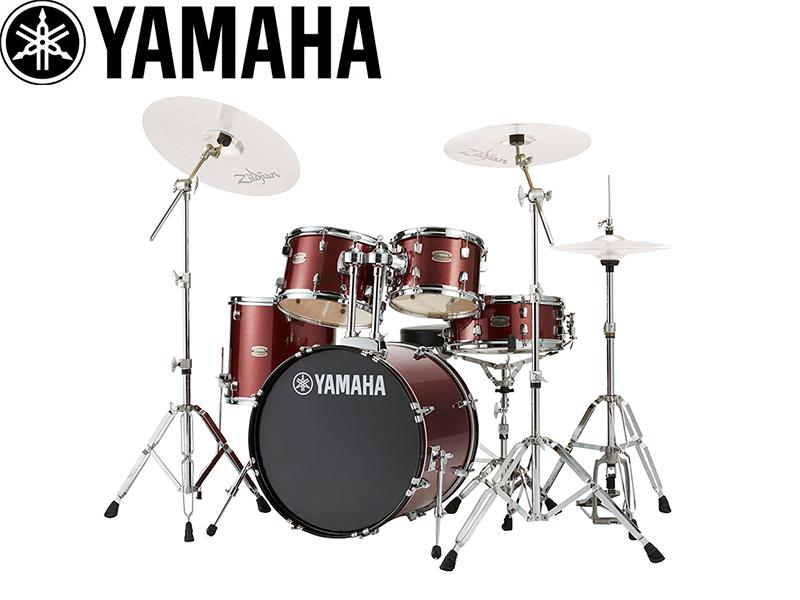 YAMAHA ( ヤマハ ) RDP0F5BGG バーガンディグリッター 【RYDEEN ドラムセット /ハードウェア付きセット 】 ライディーン ドラムセット