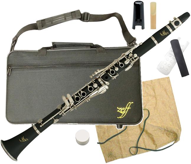 ZEFF ( ゼフ ) ZCL-30 クラリネット 新品 樹脂製 B♭ 本体 初心者 管楽器 プラスチック製 管体 マウスピース ケース 楽器 clarinet 【 ZCL30 セット C】 送料無料